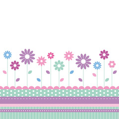 flowery meadow greeting card