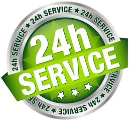 "Button Banner ""24h Service"" grün/silber"