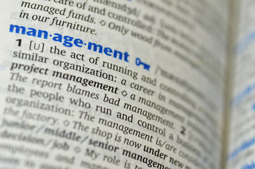 Management word on the book