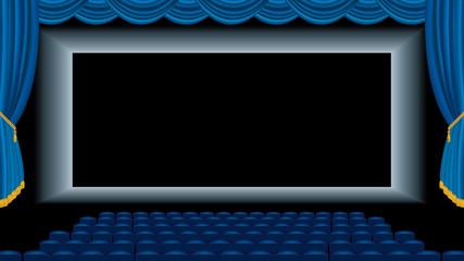 auditorium blue carpet