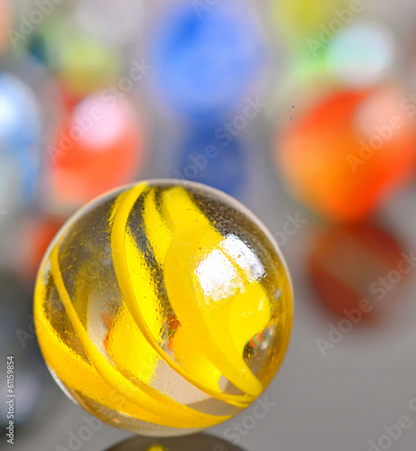 yellow glas ball