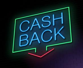 Cashback concept.