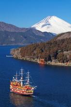 Achi góra Fuji i jezioro