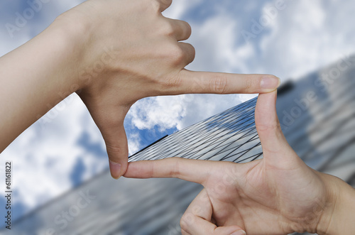 vision of a glass business building - 61161822
