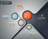 Modern business infographics graphic design layout