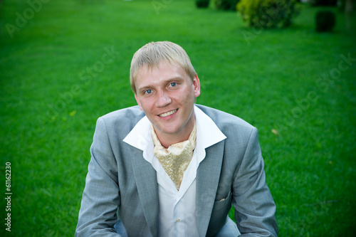 Groom in park