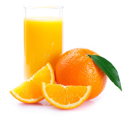 Fresh orange with juice