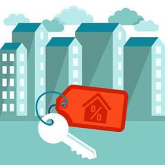 Vector flat illustration - mortgage concept