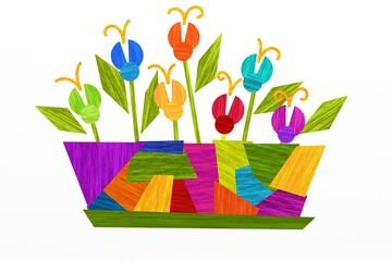 vaso di fiori astratto
