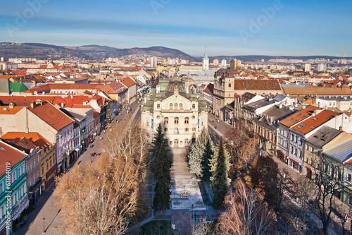 Panoramic view of Kosice, Slovakia