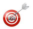 b2c target cloud currency concept illustration