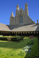 Garden in the abbey of Mont Saint Michel