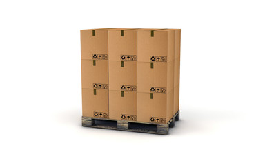 scatoloni su pallet