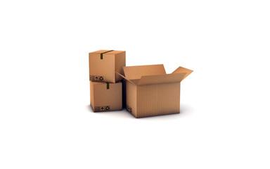 scatoloni chiusi e uno aperto v1