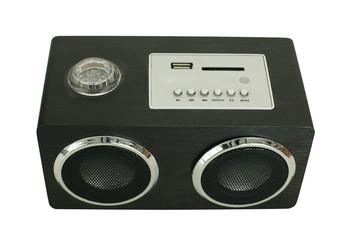 Wooden speaker isolated on white