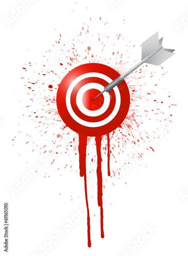 ink drop target illustration design