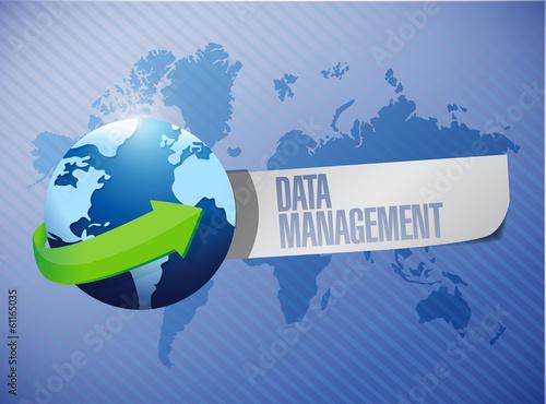 data management message world map