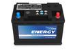Leinwanddruck Bild - Black automobile battery isolated on white background