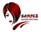 Fototapety Banner template for beauty salon, hair styles, etc.