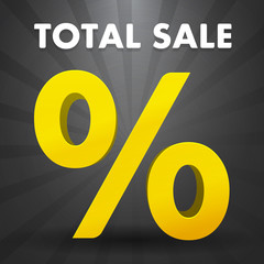 Total sale poster with percent discount