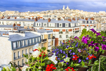 Paris - view from the flowered balcony