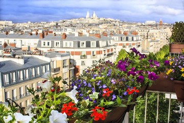 Balcony with a view, Paris