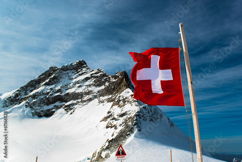 Alpine Alps mountain landscape at Jungfraujoch