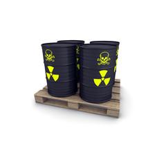 barili di scorie nucleari su pallet
