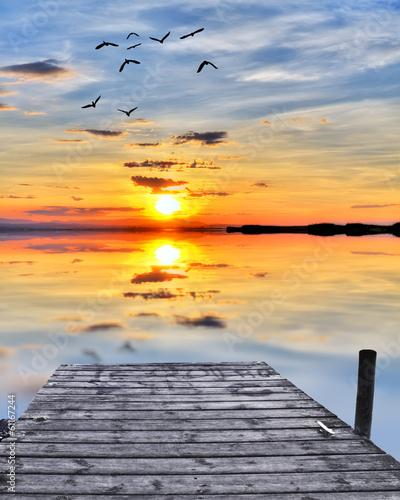 Fotobehang Een Hoekje om te Dromen la hora de los colores