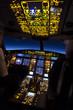 Cockpit of aircraft in a night flight