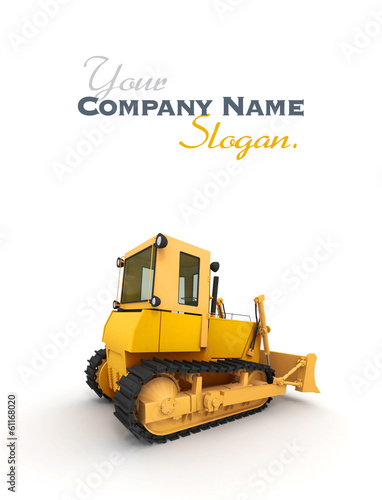 Lateral view of a bulldozer