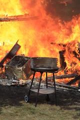 Grillunfall - Wohnwagenbrand