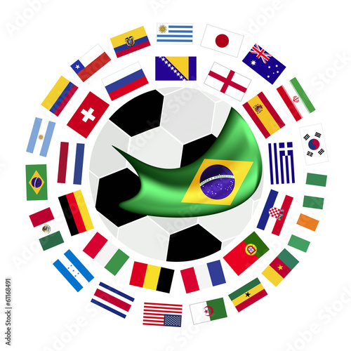 The 32 Teams in The Brazil 2014
