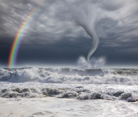amazing tornado with Rainbow