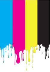 coulures de couleurs primaires