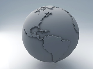 World map 3D
