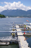 Seaplanes in harbour Vancouver , Canada