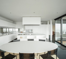 interior modern house, kitchen
