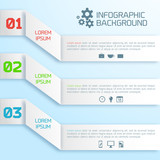 Vector abstract paper infographic background