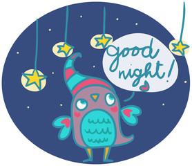 gufetto augura una buona notte