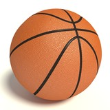 3d illustration of a basketball