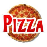 3d illustration of a pizza logo - 61170250
