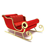 3d illustration of a sleigh - 61170298