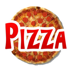 3d illustration of a pizza logo