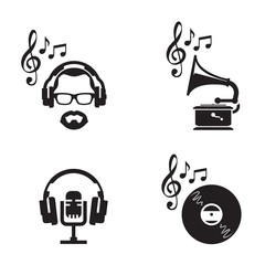Music icons. Vector format