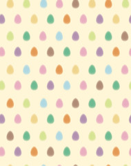 Vector seamless pattern of Easter eggs, blurred effect.