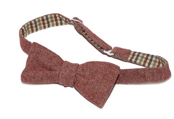 Tweed bow-tie isolated over white
