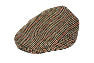 Retro Wool tweed gentleman's cap isolated