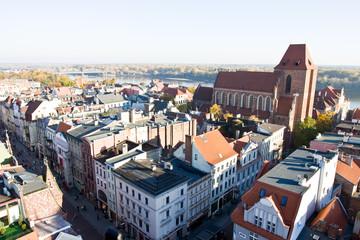 Panorama of the city Torun in Poland