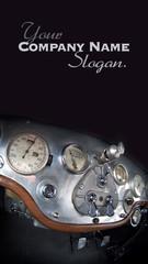 Old car's dashboard